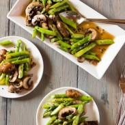 Asparagus & Portobello Mushroom Salad