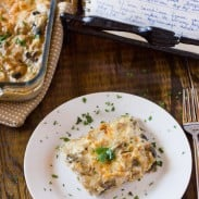 Chicken and Mushrooms with Béchamel Sauce