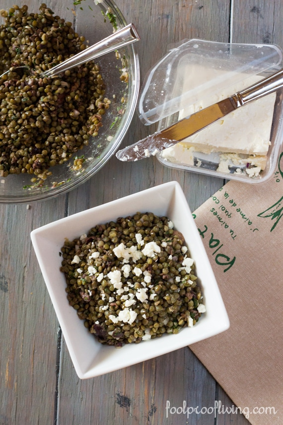Lentil Salad with Olives and Feta Cheese - Foolproof Living