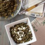 Lentil Salad with Olives and Feta Cheese