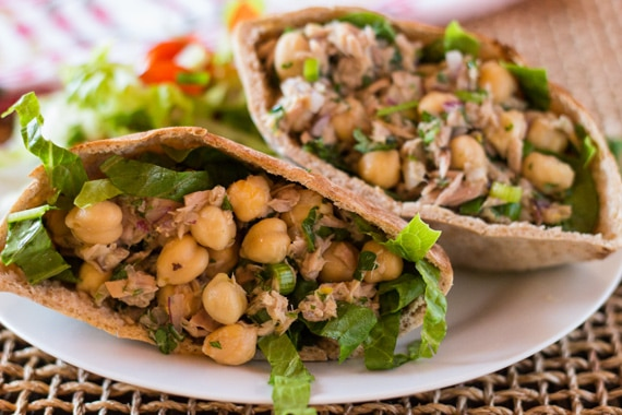Tuna and Chickpea Salad Sandwich