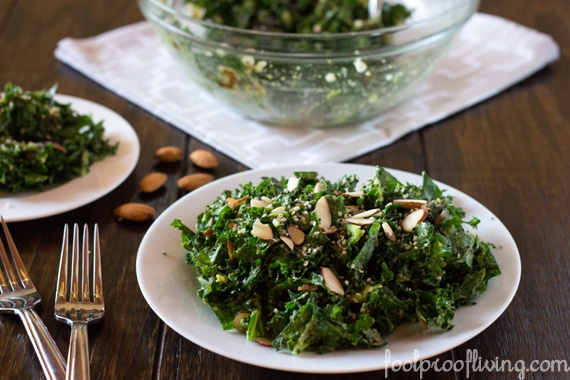Kale and Avocado Salad with Sweet and Sour Dressing