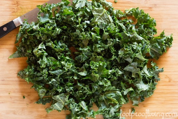 Kale For Kale Salad on a cutting board