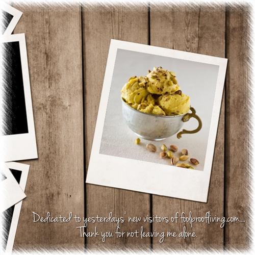 Mango and Pistachio Frozen Yogurt