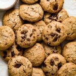 almond butter cookies on a plate