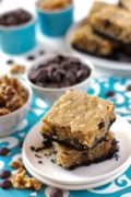 Oreo Crusted Walnut-Banana Blondie