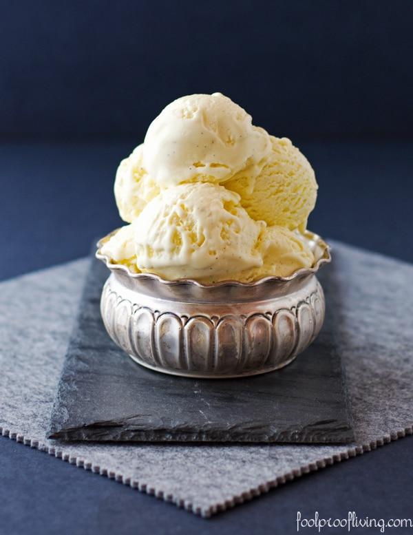 Small bowl of Vanilla Ice Cream