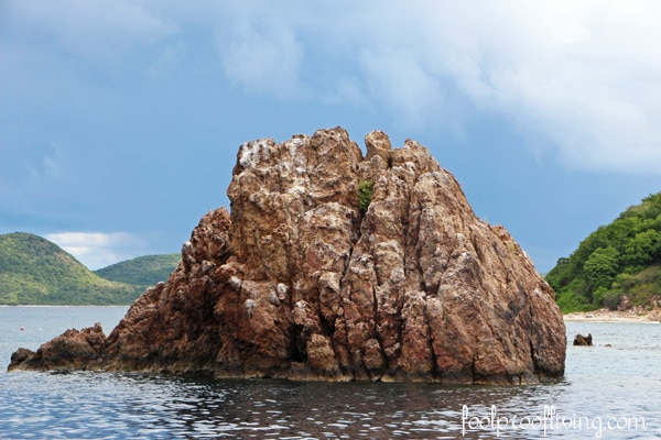 A rock in the British Virgin Islands