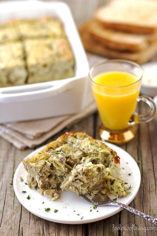 Eggs with Artichoke, Tarragon, and Parmesan
