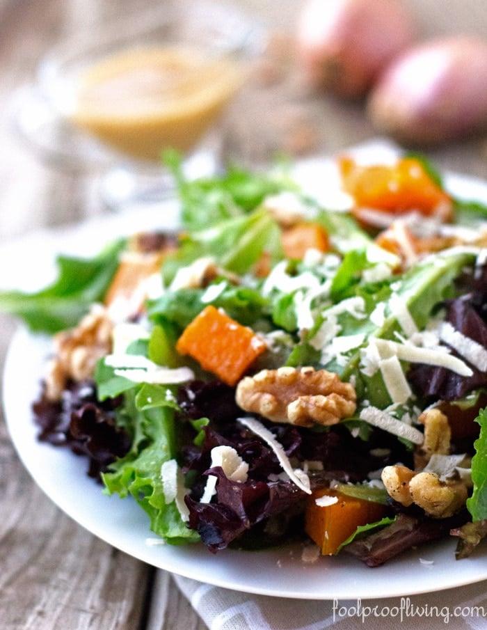 Roasted Ernut Squash Salad With Warm Cider Vinaigrette