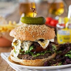 Saba Rocks' St. Barts Burger