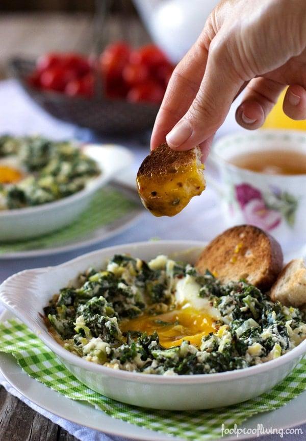 ... baby kale mozzarella and egg bake recipe yummly baby kale mozzarella