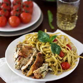 Chicken with Basil and Herbed Goat Cheese