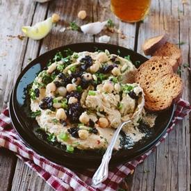 Homemade Mediterranean Hummus