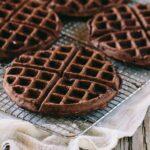 Four Dark Chocolate Waffles
