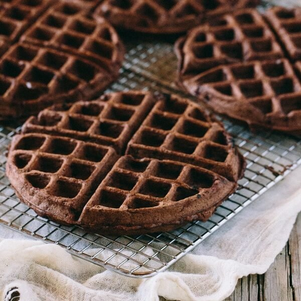Four Dark Chocolate Waffles