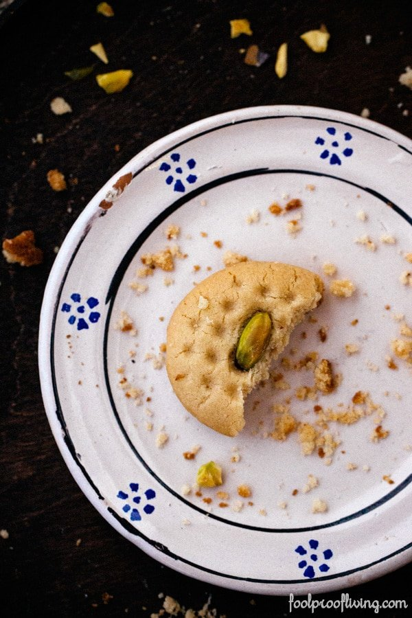 Partially eating Tahini Cookie