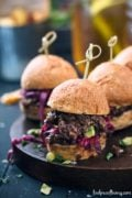 Vegan Sloppy Joe's with Wilted Red Cabbage