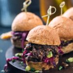 3 Vegan Sloppy Joe's with Wilted Red Cabbage