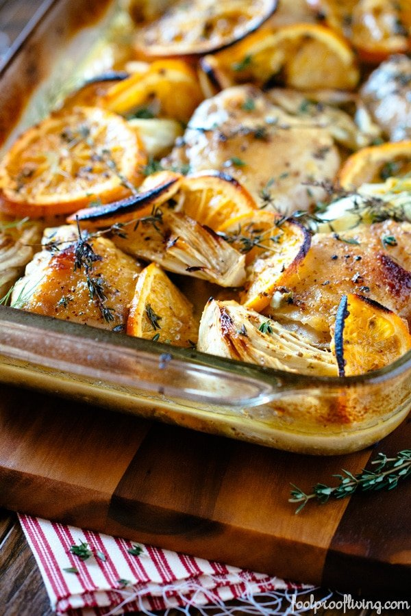 Oven-Roasted Orange Chicken with Fennel