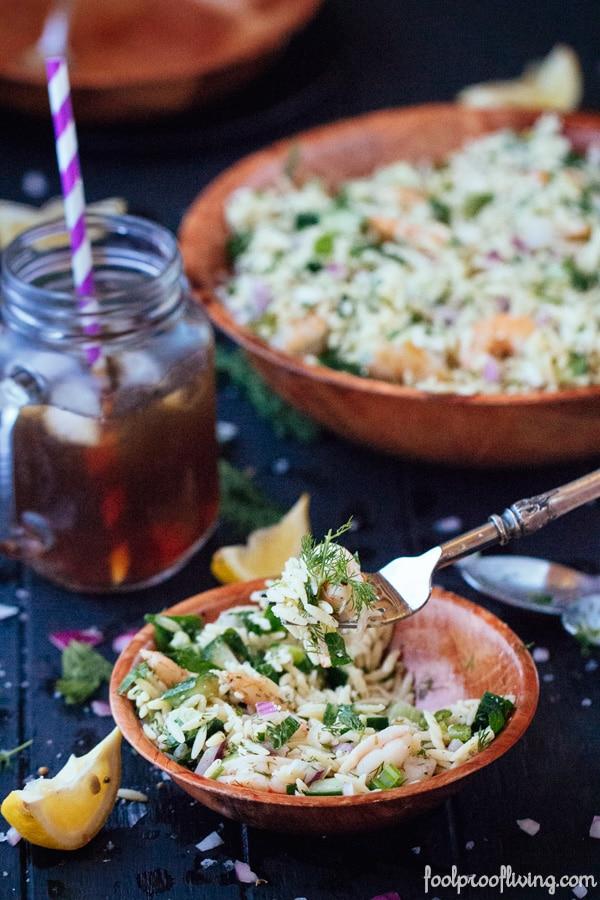 Orzo and Roasted Shrimp
