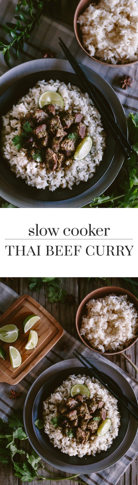 Slow Cooker Thai Beef Curry Recipe: Beef flavored with lemon grass curry and slow cooked in a crockpot.