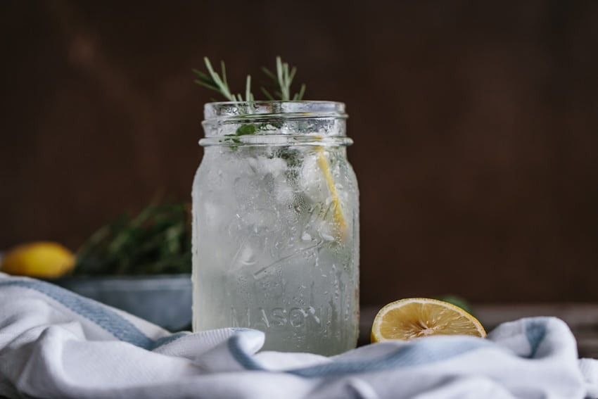 Fresh mint lemonade served in mason jars