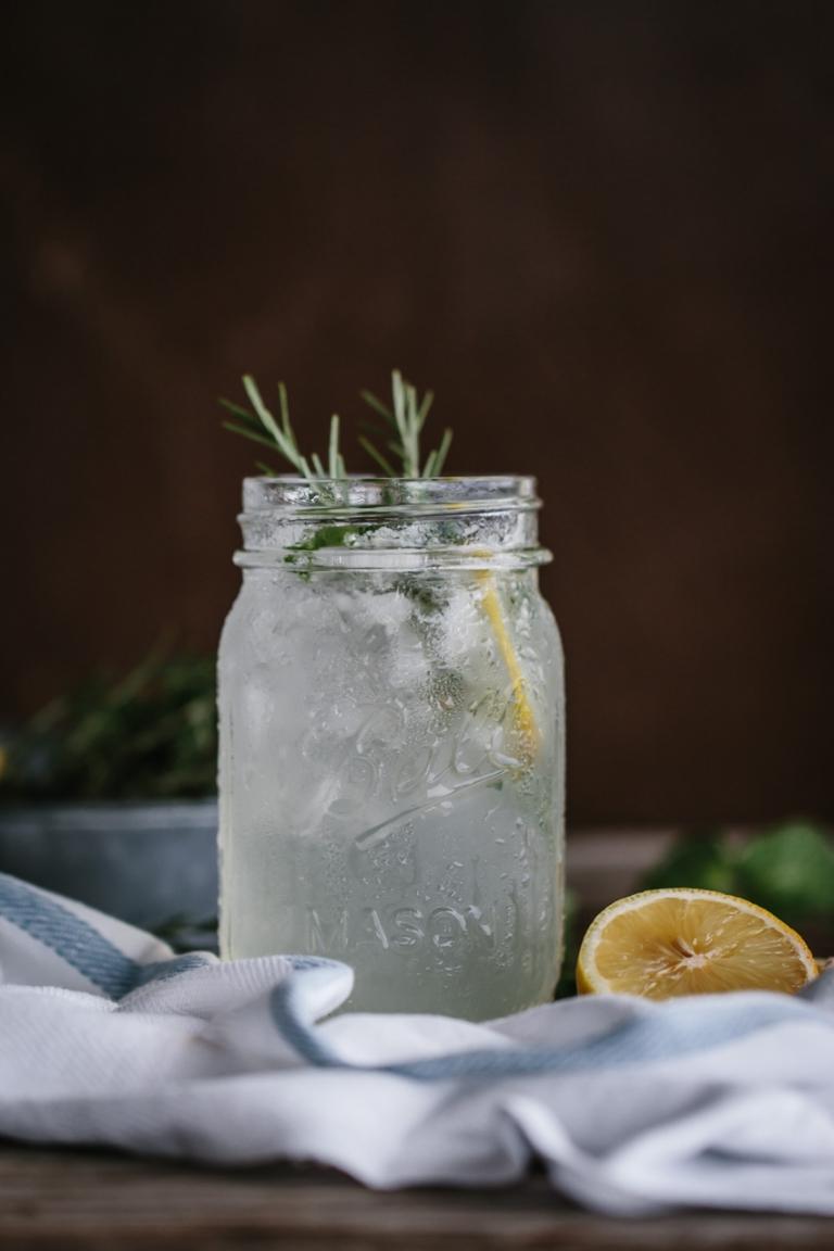 Mint and Rosemary Lemonade with Vanilla