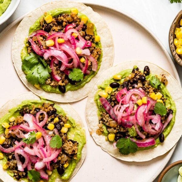 Quinoa Tacos on a plate