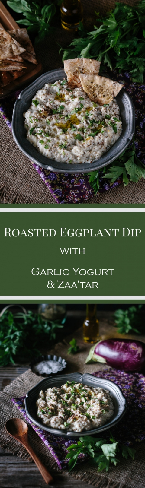 Roasted Eggplant with Garlic Yogurt and Za'atar