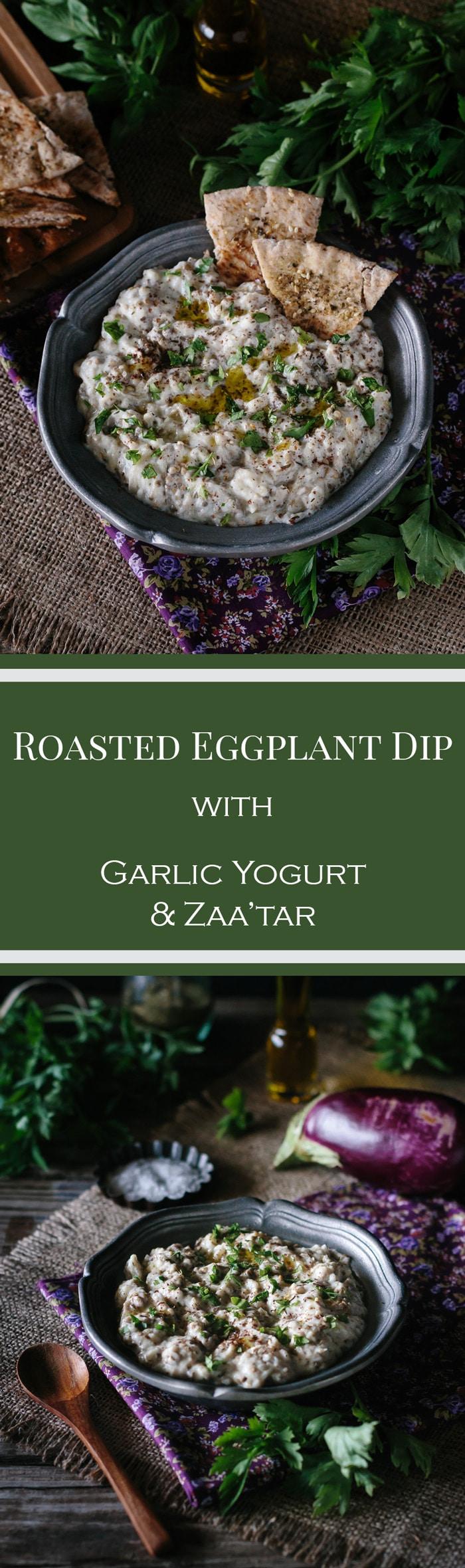 Roasted Eggplant with Garlic Yogurt and Za'atar