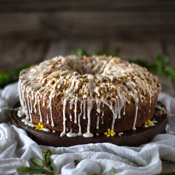 Mango Coconut Coffee Cake