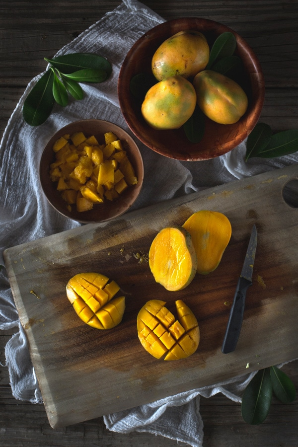 Mango-Coconut Coffee Cake
