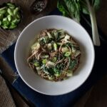 Soba Noodles with Bok Choy and Garlicky Miso-Tahini Sauce
