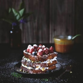 Brioche French Toast with Caramel and Berries