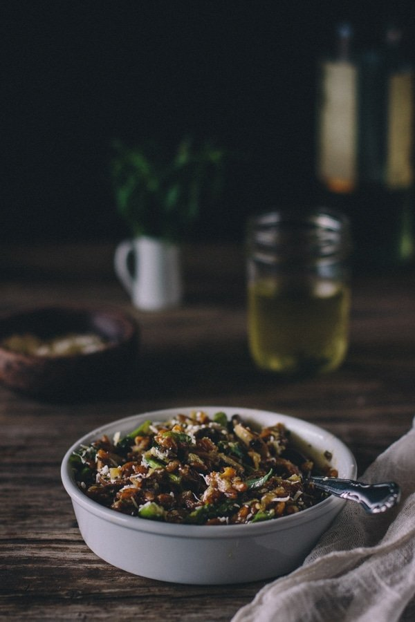 Mushroom and Asparagus Farrotto with Tarragon