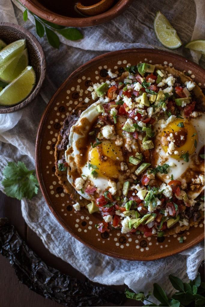 Huevos Rancheros with Posada Corazon's Pasilla Chile Sauce