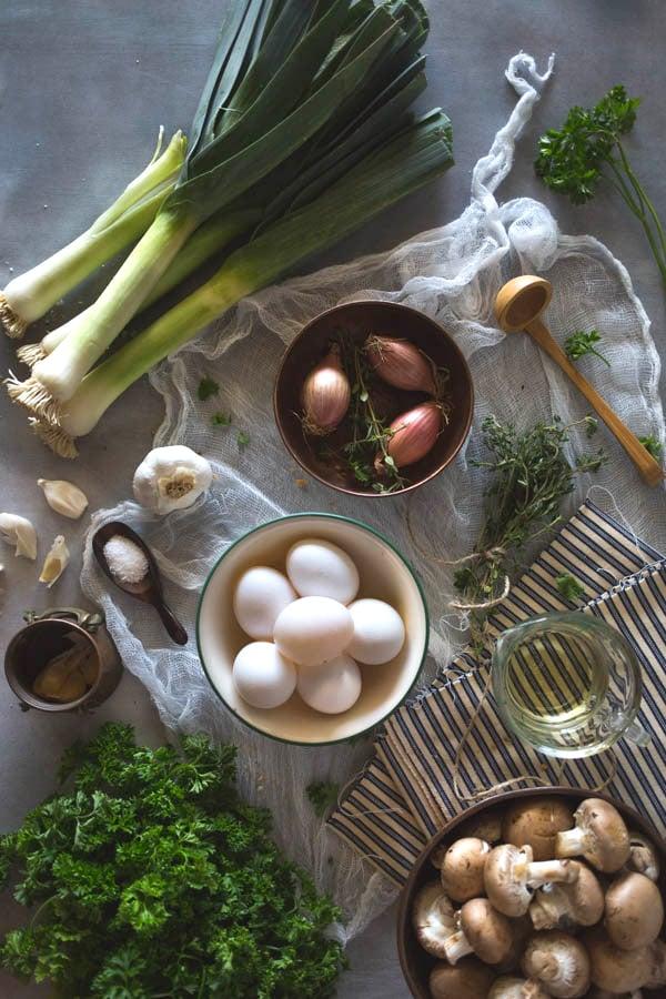 Ingredients for Brioche Mushroom  Stuffing recipe
