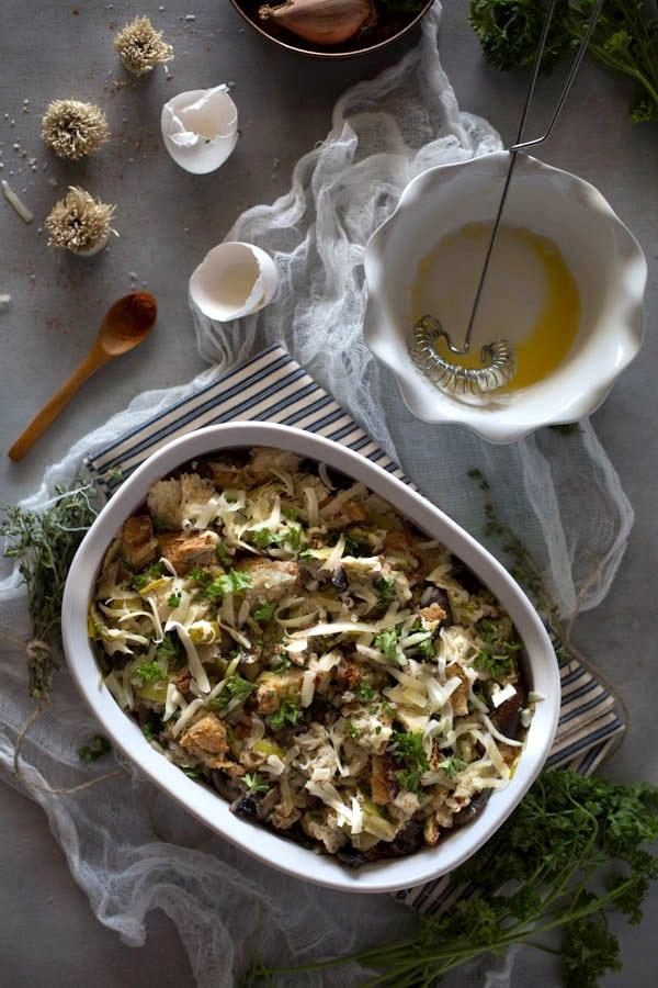 Wild Mushroom and Brioche Stuffing