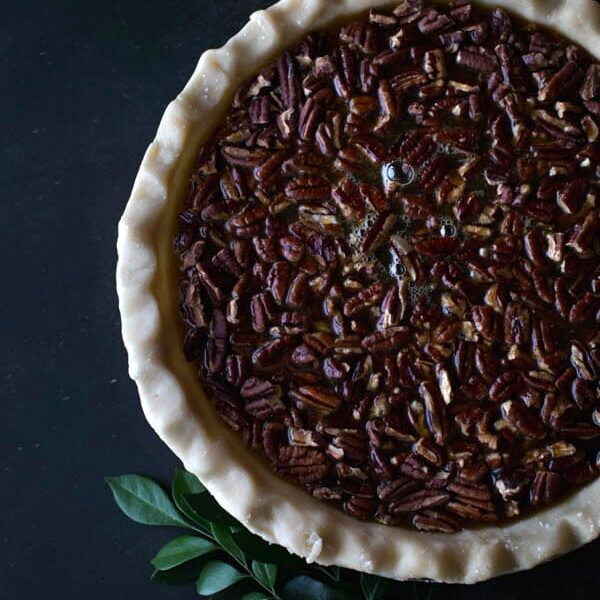 Old-Fashioned Maple Pecan Pie with Bourbon Whipped Cream