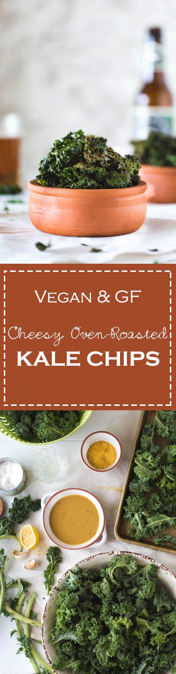 Cheesy Oven Roasted Kale Chips