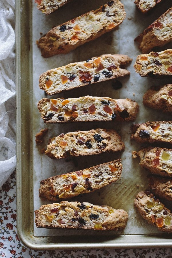 Sheet pan of Caribbean Biscotti