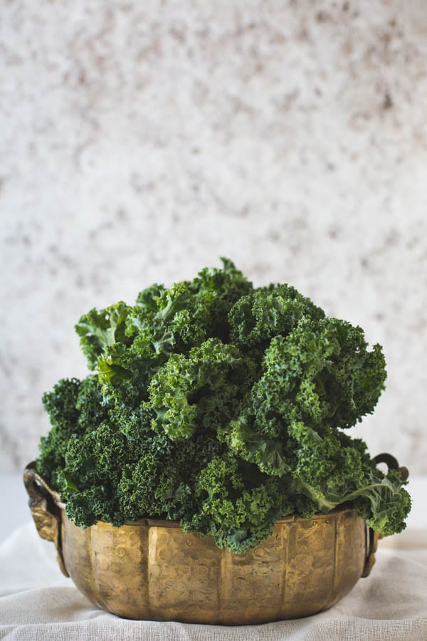 Bowl of fresh kale
