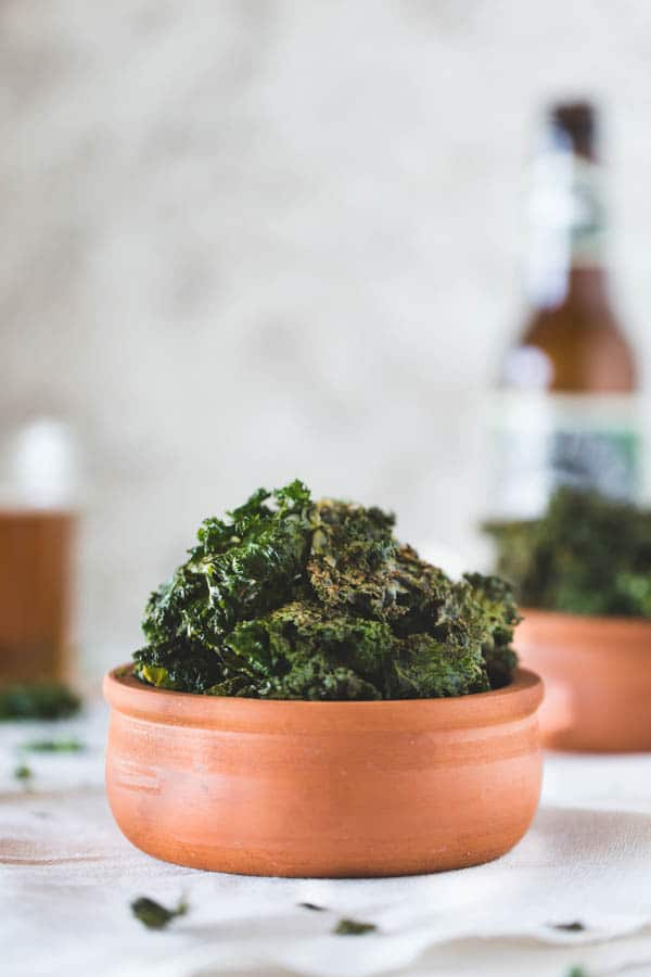 Bowl of Cheesy Oven-Roasted Kale Chips