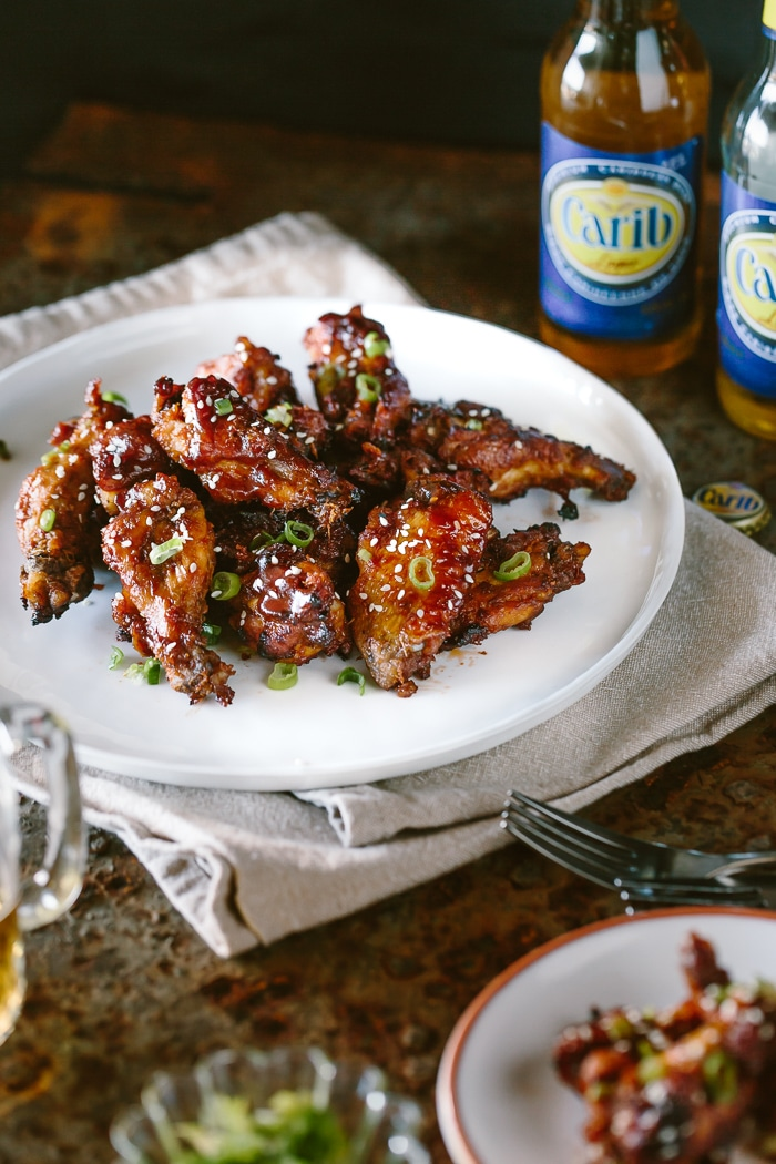 Slow Cooker Sticky Chicken Wings: Favorite game day stick wings made in slow cooker.