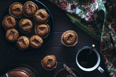 Banana Muffins with Toblerone Chunks