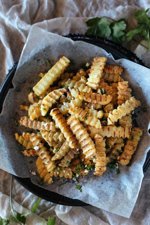 Oven-Baked Crispy Truffled Fries