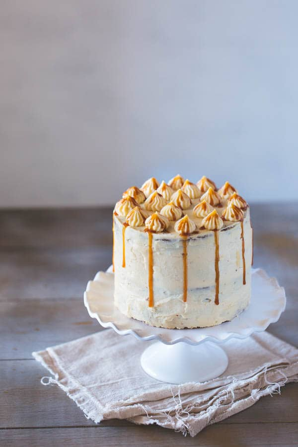 Banana Cake with Caramel Frosting - Foolproof Living