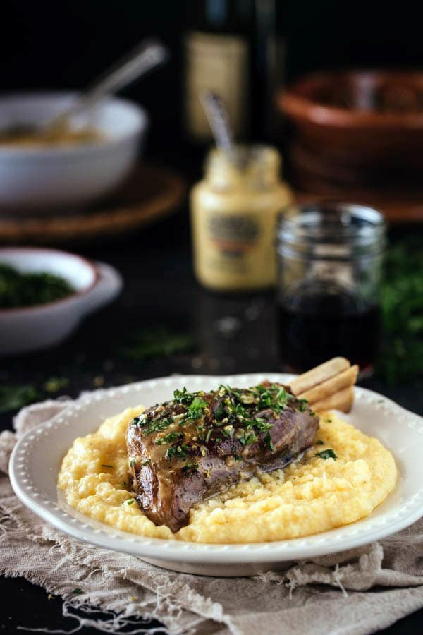 braised lamb shanks root vegetable puree braised lamb shanks with ...