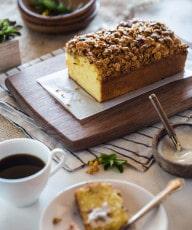 Orange Polenta Cake with Almond and Oat Streusel